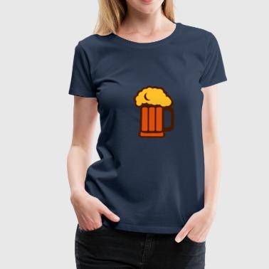 Beer glass foam 2202234 - Women's Premium T-Shirt