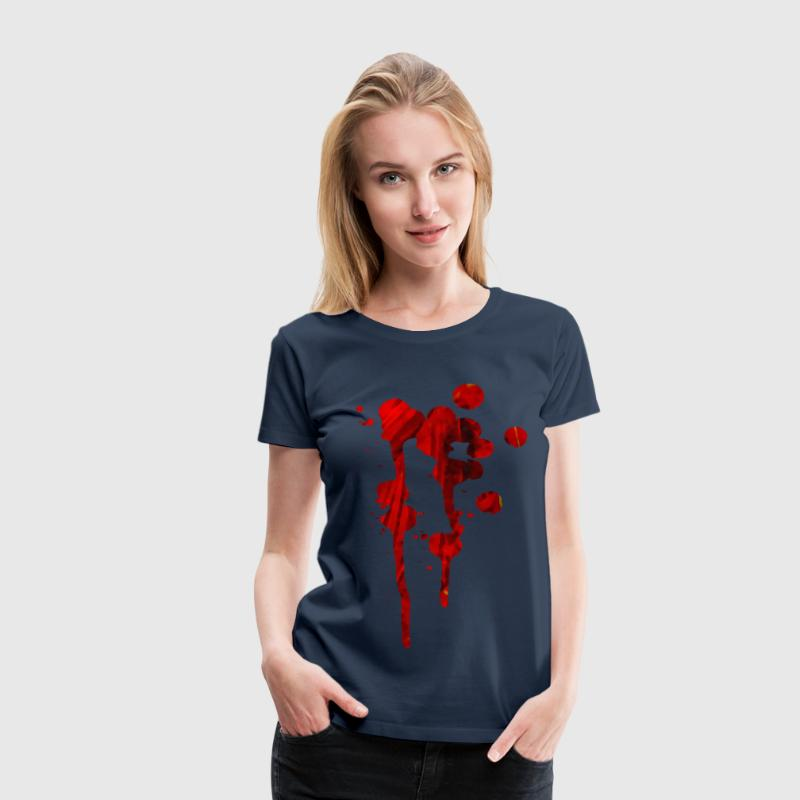 Blood red splash - Women's Premium T-Shirt