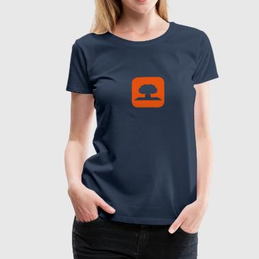 Atomic nuclear explosion icon 1706 - Women's Premium T-Shirt