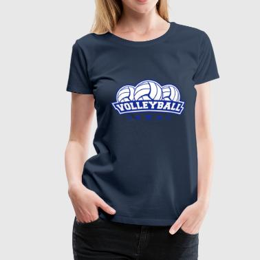 Logoer Sports Volleyball Sport Logo - Premium T-skjorte for kvinner