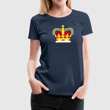 Queen's Jubilee Crown design - Vector Artwork - Women's Premium T-Shirt