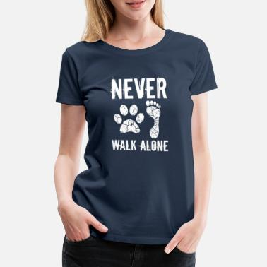 Hond Dog walking - Vrouwen premium T-shirt