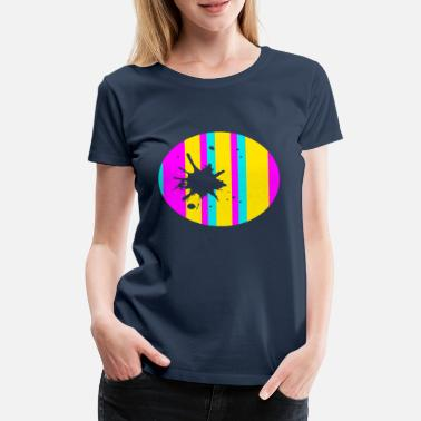 Strip design with blob - Women's Premium T-Shirt