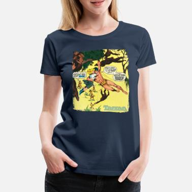 Tarzan Jane Old Comic Cover - Women's Premium T-Shirt