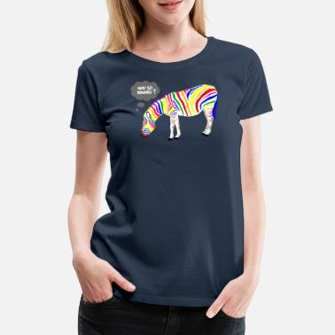 Gay Pride Rainbow Zebra - Women's Premium T-Shirt
