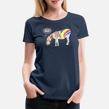 Gay Pride Rainbow Zebra - Women's Premium T-Shirt
