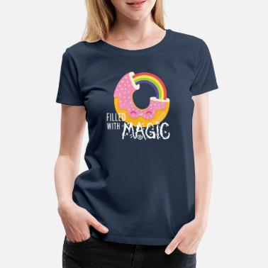 Witzig Donut - filled with magic - Frauen Premium T-Shirt