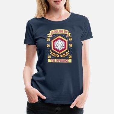Engagé Leveling up to Spouse Ehefrau Hochzeit JGA Gamerin - T-shirt Premium Femme