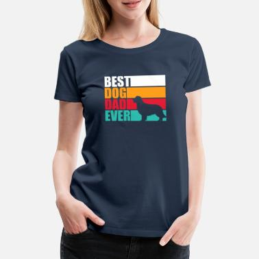 Best Dog Dad Ever Best Dog Ever Dad - golden retriever para hombres - Camiseta premium mujer