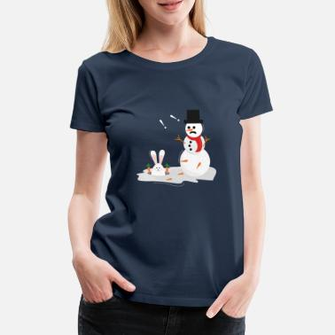 Snowman and Easter bunny Christmas & Easter - Women's Premium T-Shirt