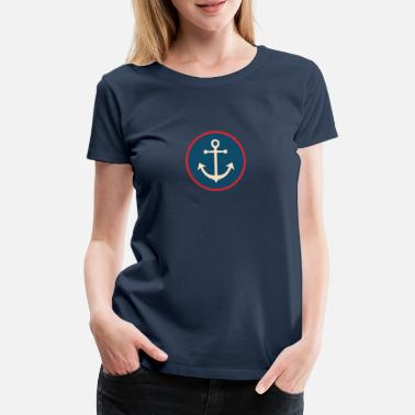 Anchor Anchor sea shell lighthouse beach lake gift - Women's Premium T-Shirt