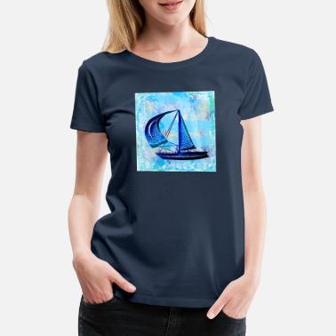 boot in de zee - Vrouwen premium T-shirt