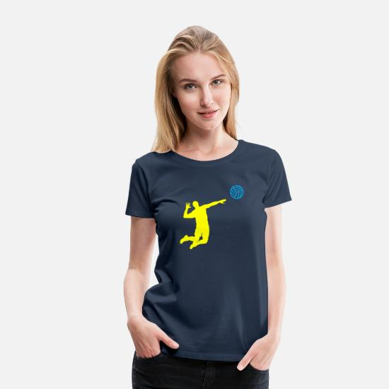 Volleyball T-Shirts - Angriff - Women's Premium T-Shirt navy