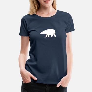 Drawing polar bear - Women's Premium T-Shirt