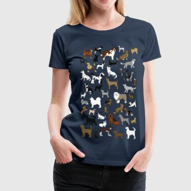 many dogs pixel - Dame premium T-shirt