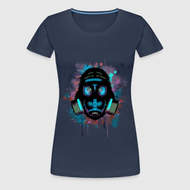 Urban Monkey with Gas mask Fallout - Women's Premium T-Shirt