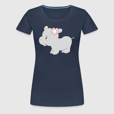 Cute Hippy Hippo Girl - Women's Premium T-Shirt