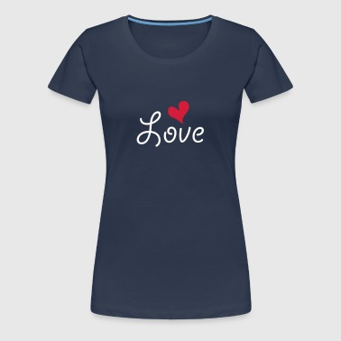 Love with heart - Frauen Premium T-Shirt