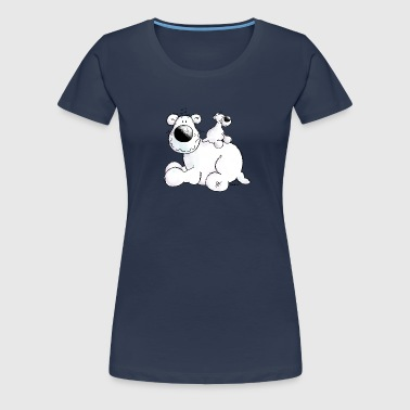 Polar Bear - Teddy- Cartoon - Women's Premium T-Shirt