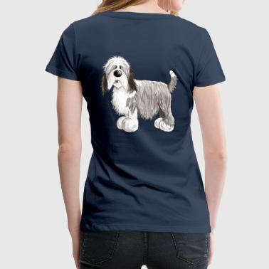 de Bearded Collie - Vrouwen Premium T-shirt