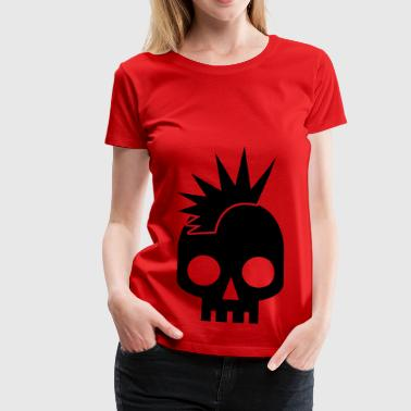 PUNK BABY skull with mohawk - Women's Premium T-Shirt