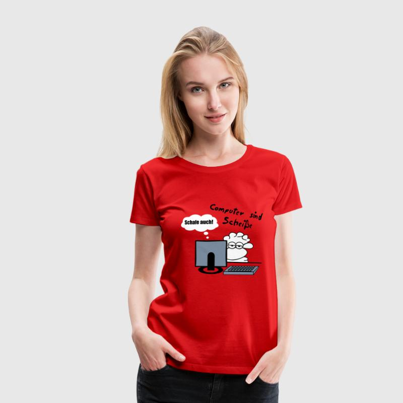 Computerschaf - Frauen Premium T-Shirt