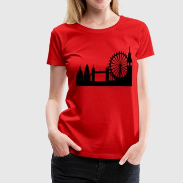 London Skyline - Women's Premium T-Shirt