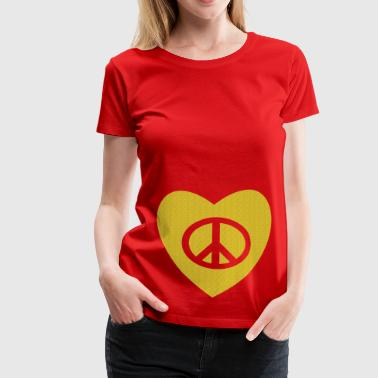 tatouage amour et paix peace and love tattoo - T-shirt Premium Femme