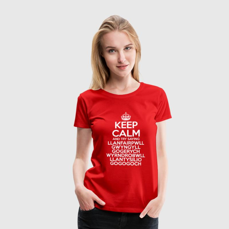 Keep Calm Llanfair - Women's Premium T-Shirt