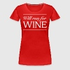 Will Run For Wine - Women's Premium T-Shirt