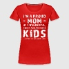 Lustiges Geschenk Namen Mutter 3 Kinder - Frauen Premium T-Shirt