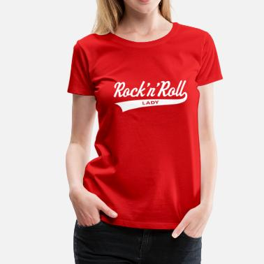 Girly Rock Rock 'n' Roll Lady, Girlie-T-Shirt - Women's Premium T-Shirt