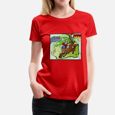 Huettenzauber The wolf and the seven little kids- Christmas - Women's Premium T-Shirt
