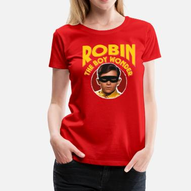 DC Comics Batman Robin Rétro The Boy Wonder - T-shirt Premium Femme