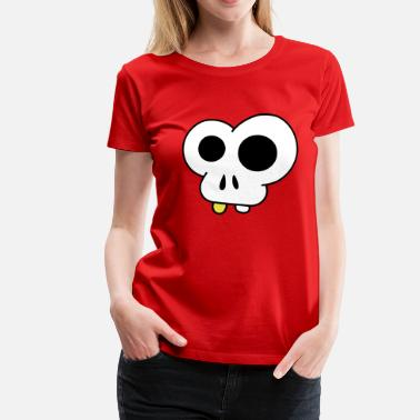 Cartoon skull - Vrouwen premium T-shirt