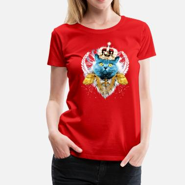 Muschi König Blue Cat the King - hero - König Krone Held - Frauen Premium T-Shirt