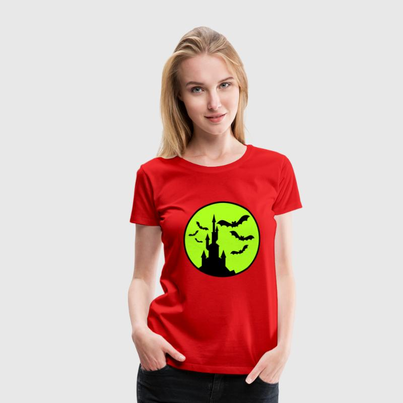 halloween motive bat closed vampire gift - Women's Premium T-Shirt