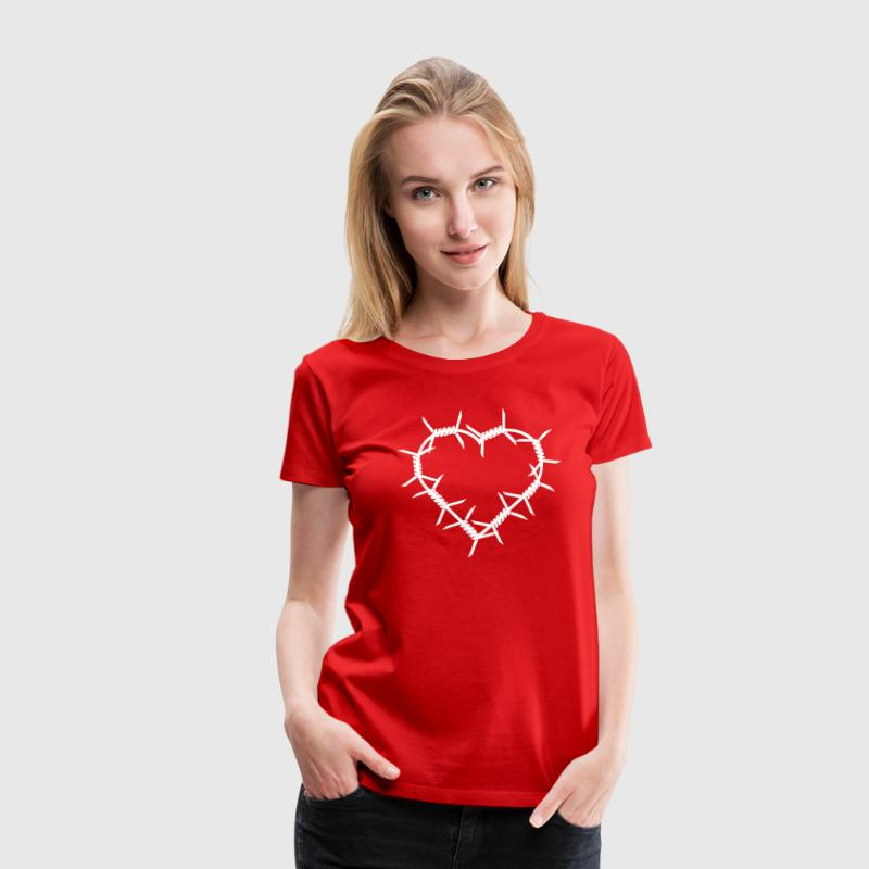 Barbed Wire Heart - Women's Premium T-Shirt