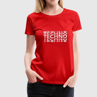 Techno Bass Techno Bass Music Shirt - T-shirt Premium Femme