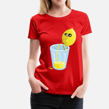 Lemon pees lemonade - Dame premium T-shirt