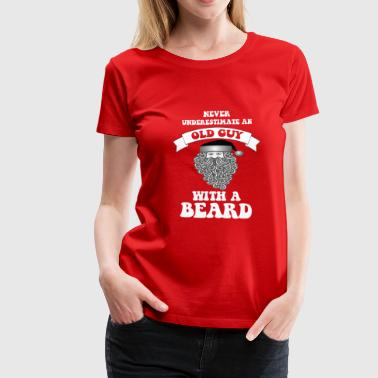 Never underestimate a Santa with a beard - Women's Premium T-Shirt