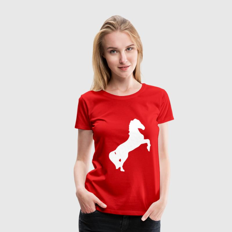 cheval horse silhouette ombre shadow1 - Camiseta premium mujer