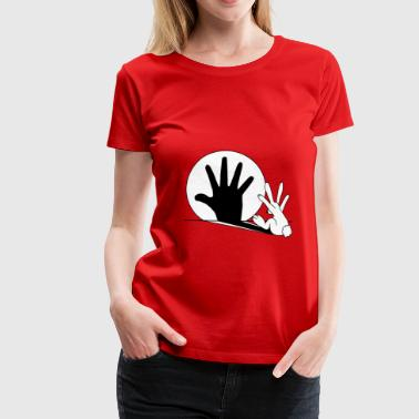 Rabbit Hand Shadow - Women's Premium T-Shirt