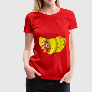 heart spain - Women's Premium T-Shirt