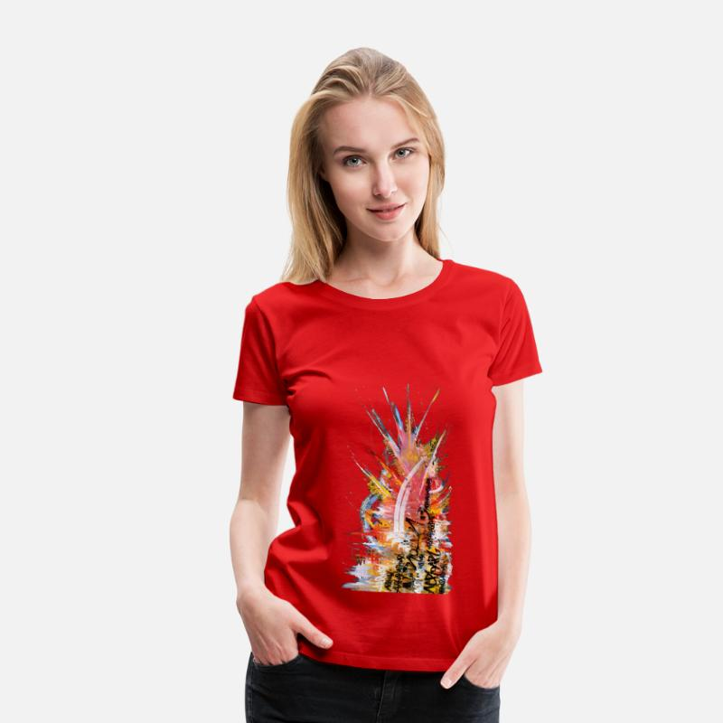 Art T-shirts - Toile Street Art - T-shirt premium Femme rouge
