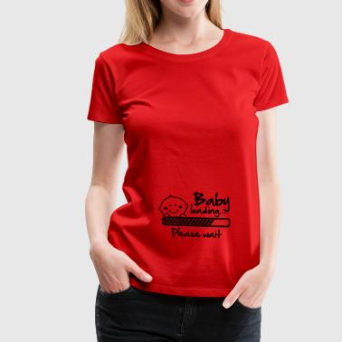 Baby loading - please wait - Frauen Premium T-Shirt