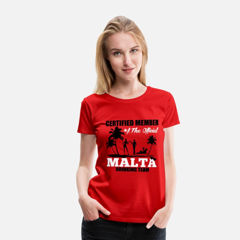 Malta T-Shirts - Certified member of the MALTA drinking team - Women's Premium T-Shirt red