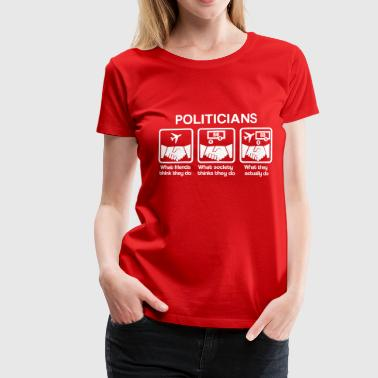 Politicians - What my friends think I do - Women's Premium T-Shirt