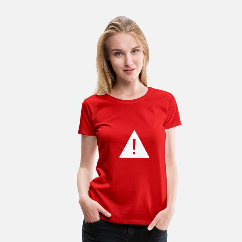 Exclamation Mark T-Shirts - Attention - Exclamation Mark - Women's Premium T-Shirt red