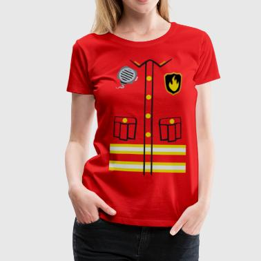 Firefighter Costume - Premium-T-shirt dam